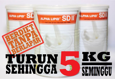 Alpha Lipid SDII - Turun berat badan sehingga 5KG seminggu!